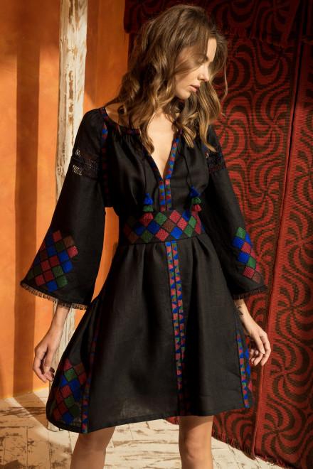 Inka Short Dress in Black