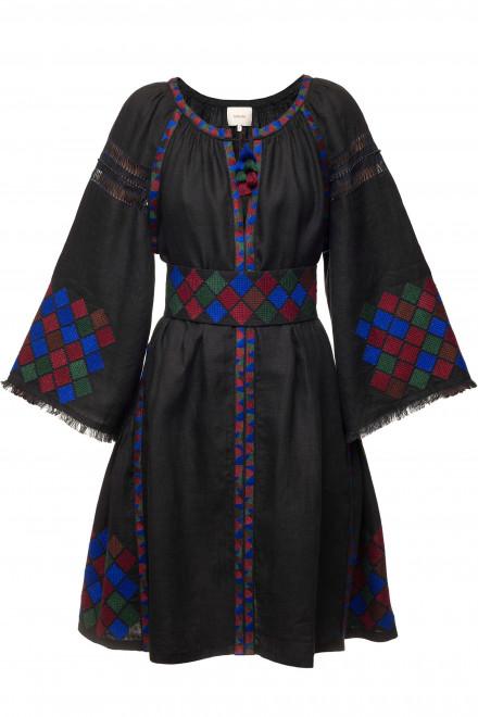 Inka Short Dress in Black 1