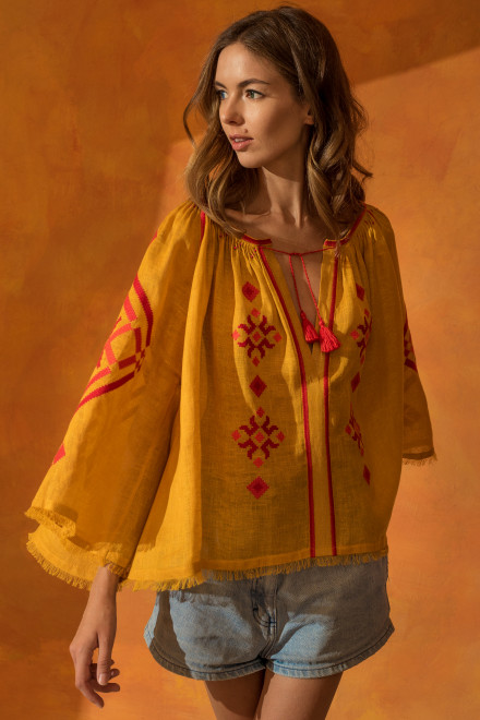 Provence Blouse in Ocher