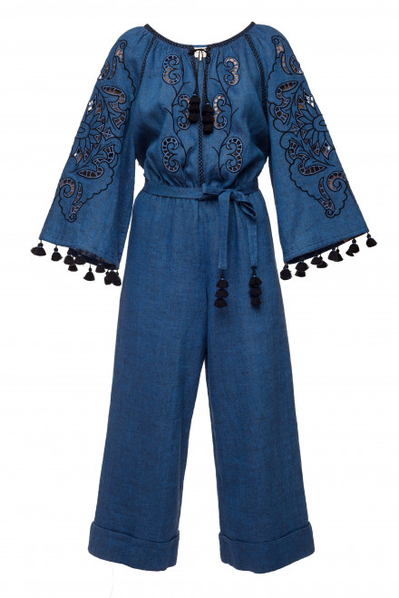 Rosha Midi Jumpsuit in Blue