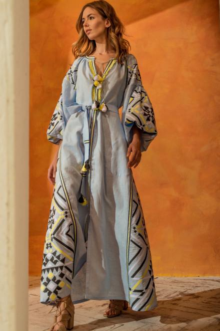 Gia Long Dress in Light Blue 1