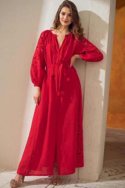 Rosha Long Dress in Red 1