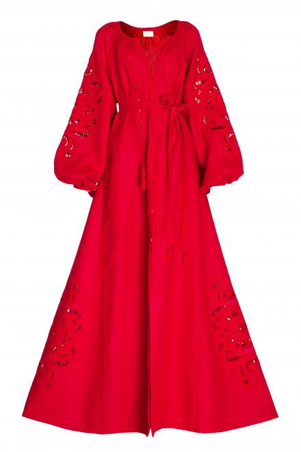 Rosha Long Dress in Red