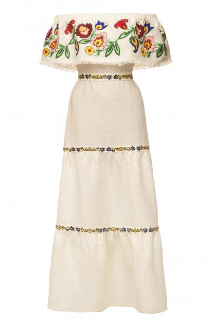 Neroli Long Dress in Ivory