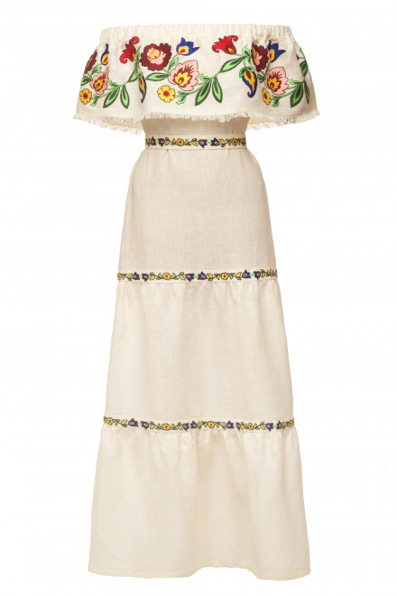 Neroli Long Dress in Ivory 1