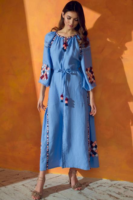 Inka Long Dress in Lavander 1