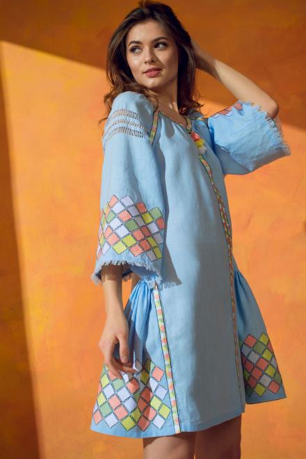 Inka Short Dress in Light Blue