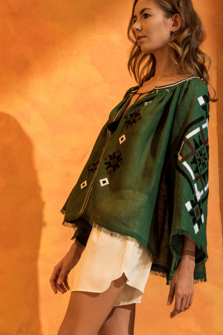 Provence Blouse in Green