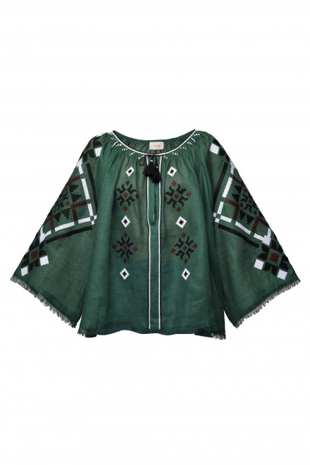 Provence Blouse in Green 1