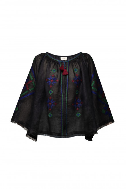Provence Blouse in Black 1