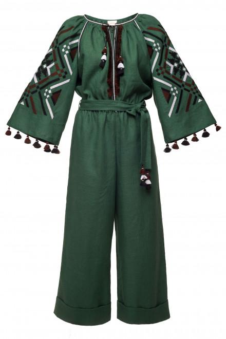 Gia Midi Jumpsuit in Green 1