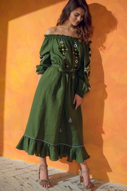Provence Long Dress in Green 1
