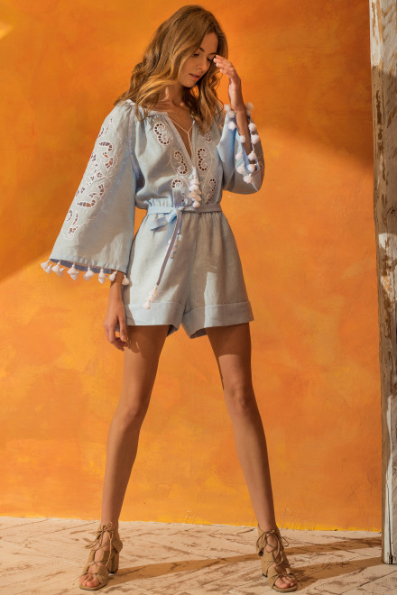 Rosha Short Playsuit in Light Blue