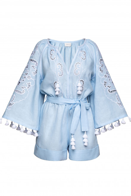 Rosha Short Playsuit in Light Blue 1