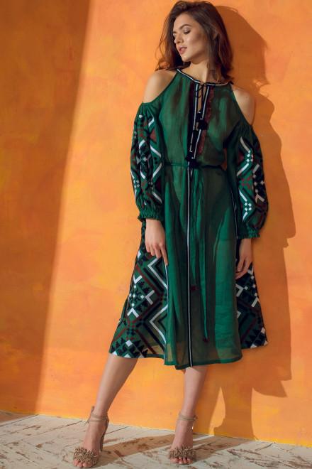Gia Midi Dress in Green