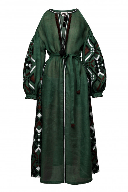 Gia Midi Dress in Green 1