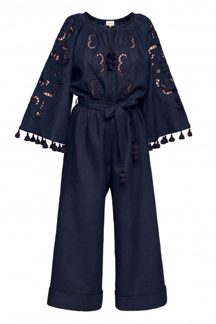Rosha Jumpsuit in Navy Blue