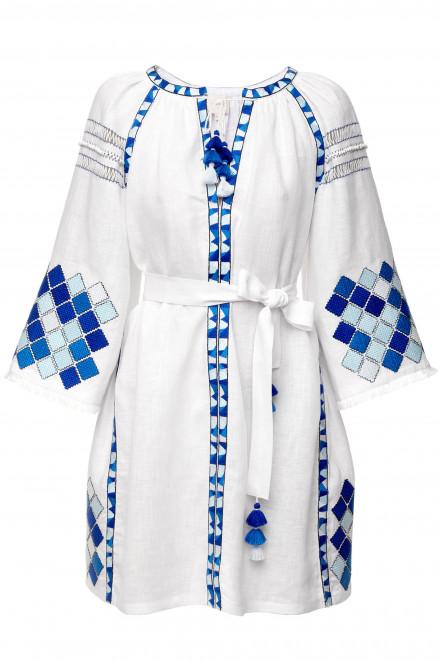 Inka Short Dress in White 1