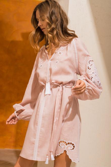 Rosha Short dress in Powder Pink 1