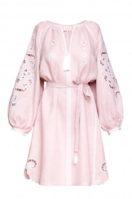 Rosha Short dress in Powder Pink