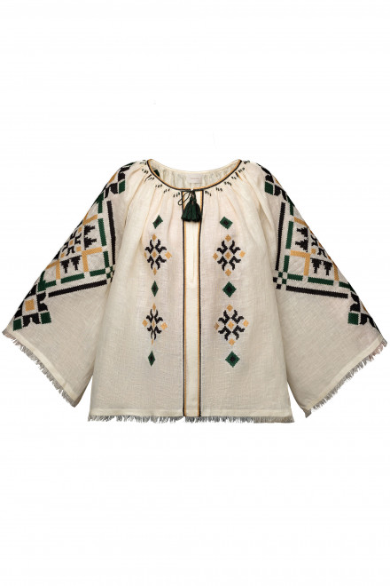 Provence Blouse in Ivory 1