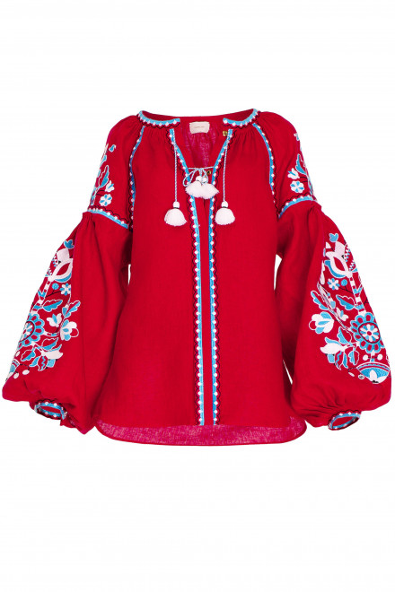 Blossom Tree Blouse in Red 1