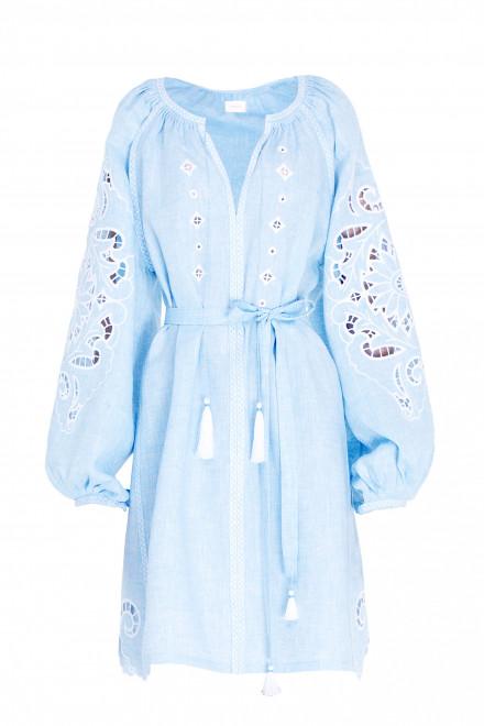 Rosha Short Dress in Light Blue 1