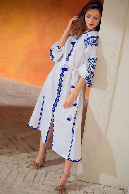 Lace Midi Dress in White