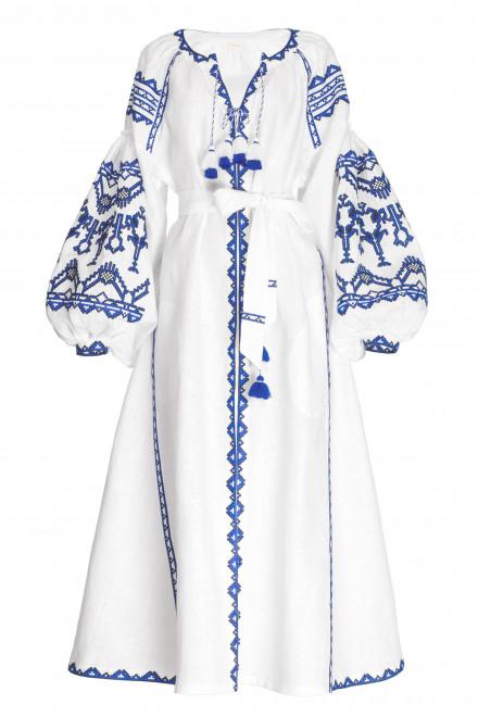 Lace Midi Dress in White 1