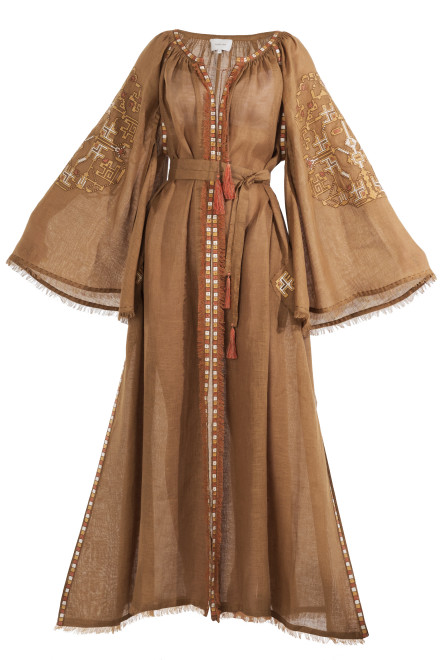 Devi Long Dress in Gold