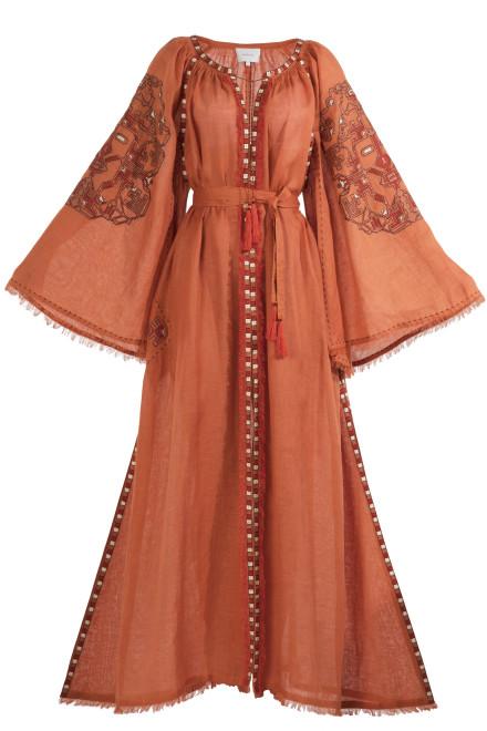Devi Long Dress in Orange