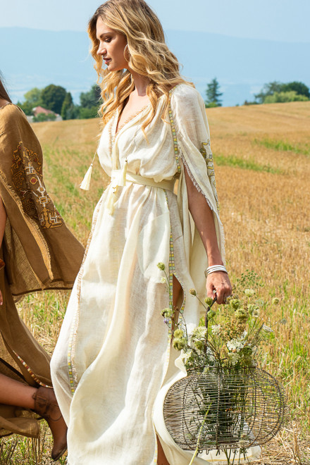 Dewi Long Dress in Ivory 1