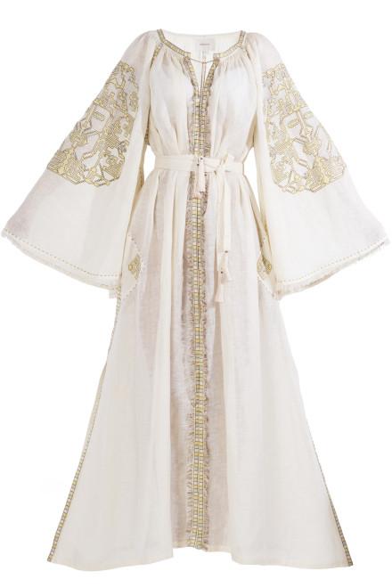 Devi Long Dress in Ivory