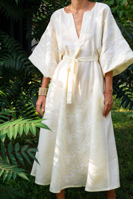 Etna Long Dress in Ivory 1
