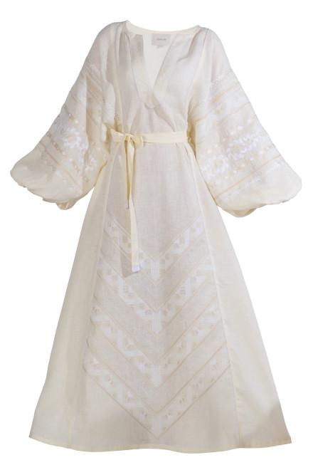 Etna Long Dress in Ivory