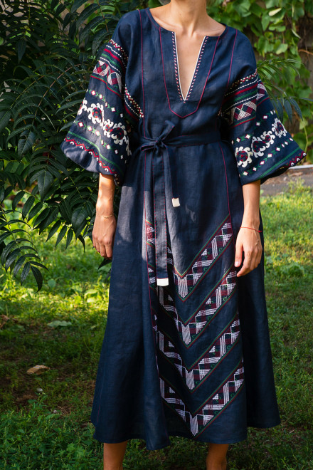 Etna Long Dress in Blue 1