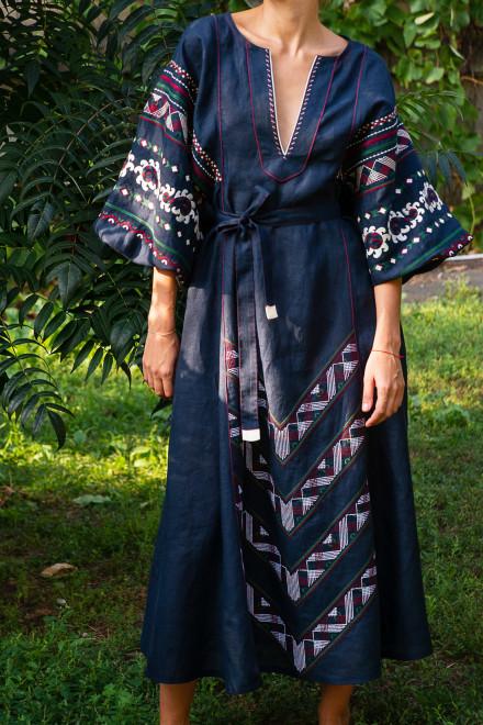 Etna Long Dress in Blue 1