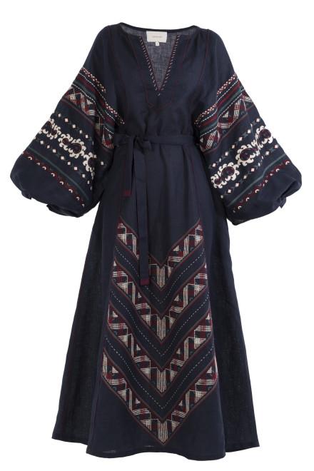 Etna Long Dress in Blue
