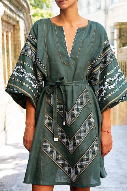 Etna Short Dress in Pale Green 1