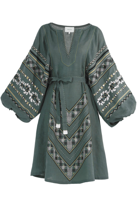 Etna Short Dress in Pale Green