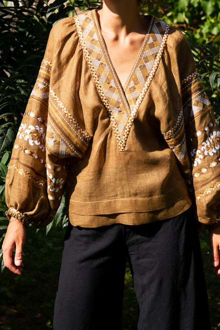 Etna Blouse in Gold 1